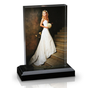 8x12 Vertical Photo Block with Base